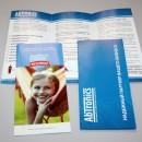 """самый распространённый вид рекламной полиграфии: """"евробуклеты, лифлеты. два фальца."""