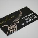 визитка шелкография
